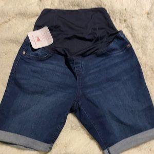 10 Maternity Shorts Jeans Denim Stretch